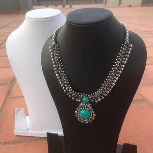 Jewelry - Oxidized Turquoise Necklace